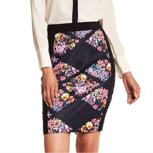 NWT Ted Baker Lost Gardens Diamond Pencil Skirt 3